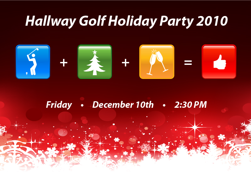 Hallway Golf Party Poster