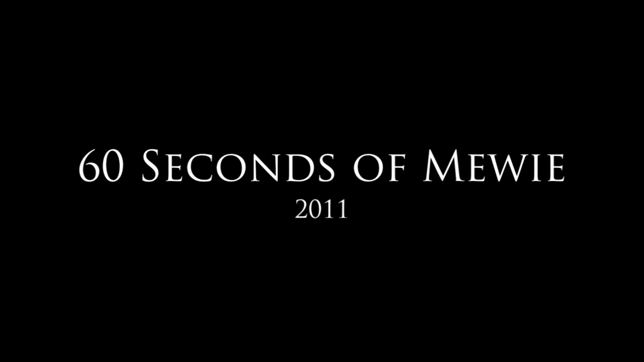 60 Seconds of Mewie – 2011
