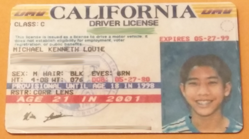 Old Drivers License